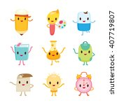 Education Characters Icons...