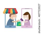 online shopping   e commerce... | Shutterstock .eps vector #407722027