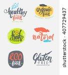 organic gluten free eco bio... | Shutterstock .eps vector #407729437
