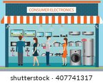 people in consumer electronics... | Shutterstock .eps vector #407741317