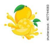 fresh mango   Shutterstock .eps vector #407744083
