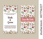 wedding card collection.... | Shutterstock .eps vector #407756227