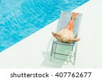 top view of a girl in the... | Shutterstock . vector #407762677