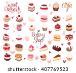 set with different kinds of... | Shutterstock .eps vector #407769523