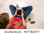 top view  of  young man ... | Shutterstock . vector #407783377