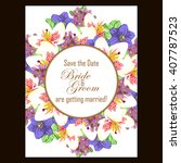 romantic invitation. wedding ... | Shutterstock .eps vector #407787523
