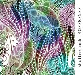 abstract doodle seamless pattern | Shutterstock . vector #407787577