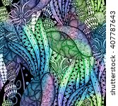 abstract doodle seamless pattern | Shutterstock . vector #407787643