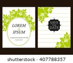 romantic invitation. wedding ... | Shutterstock .eps vector #407788357