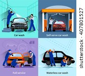 car wash center full and self... | Shutterstock .eps vector #407801527