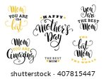 mothers day. lettering design.... | Shutterstock .eps vector #407815447