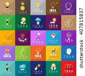 idea icons set isolated on... | Shutterstock .eps vector #407815837