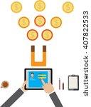 idea and login concept  money
