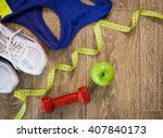set for sports activities on... | Shutterstock . vector #407840173
