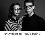 fashion models couple wearing...