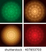 bright vector ornaments on... | Shutterstock .eps vector #407853703