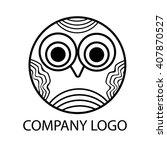 little owl pretty logo round... | Shutterstock .eps vector #407870527