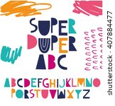 funky abc for your design. | Shutterstock .eps vector #407884477