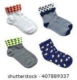 set of socks isolated on white... | Shutterstock . vector #407889337