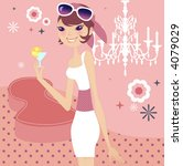 pink lady | Shutterstock .eps vector #4079029