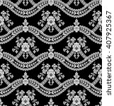 seamless lace pattern  flower... | Shutterstock .eps vector #407925367
