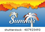 summer theme  inscription word  ... | Shutterstock .eps vector #407925493