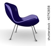 3d render of modern chair | Shutterstock . vector #40792858