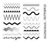 seamless zig zag and wave lines.... | Shutterstock .eps vector #407958913