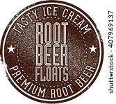 root beer floats | Shutterstock .eps vector #407969137
