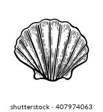 Sea Shell Scallop. Black...