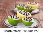 lemon and limes with cloves ... | Shutterstock . vector #408005497