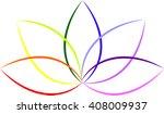 beautiful lotus flower | Shutterstock .eps vector #408009937