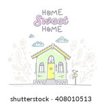 vector illustration of cute... | Shutterstock .eps vector #408010513