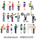vector detailed characters... | Shutterstock .eps vector #408012103
