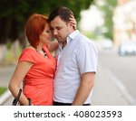 portrait of a happy couple... | Shutterstock . vector #408023593