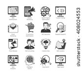 seo and web development black... | Shutterstock .eps vector #408024553