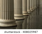 Many Old Greek Columns With...