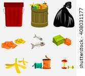 trash can and garbage | Shutterstock .eps vector #408031177