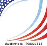 united states flag frame vector ... | Shutterstock .eps vector #408031513