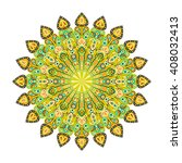 round mandala. arabic  indian ... | Shutterstock . vector #408032413