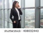 beautiful business woman... | Shutterstock . vector #408032443