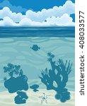 underwater landscape background ... | Shutterstock . vector #408033577