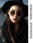 girl wearing spectacles....   Shutterstock . vector #408053833