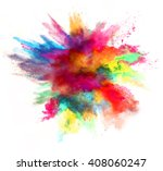 explosion of colored powder on... | Shutterstock . vector #408060247