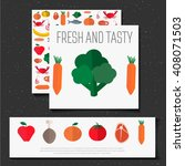 vector banner with a meal.... | Shutterstock .eps vector #408071503