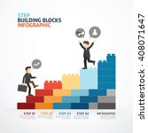 infographic template step... | Shutterstock .eps vector #408071647