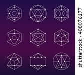 sacred geometry vector set | Shutterstock .eps vector #408076177