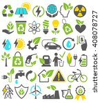 eco friendly bio green energy... | Shutterstock .eps vector #408078727