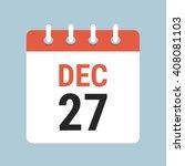 vector calendar icon   Shutterstock .eps vector #408081103