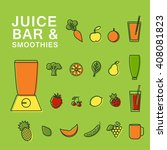 vector symbols of  fresh juice... | Shutterstock .eps vector #408081823